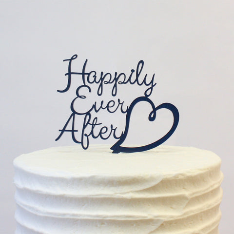 Cake Topper - Happily Ever After Heart