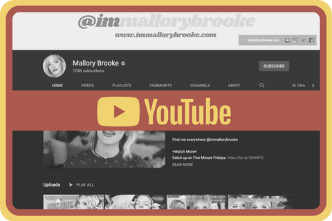 Find all of @immallorybrooke's beauty and makeup tutorial videos, women's health and fitness content, product reviews, vlogs, five-minute-fridays, and more! Subscribe and turn on notifications!
