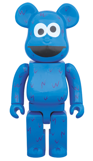 Be@rBrick Cookie Monster 400% (Sesame Street)