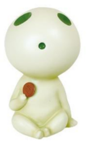 Tree Spirit Kodama Coin Bank (Glow in the dark)