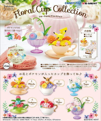 Re-Ment Pokemon Floral Cup Collection