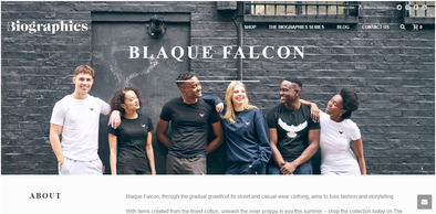 Blaque Falcon Partnership with The Biographies