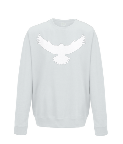 Unisex Falcon Sweatshirt Printed White