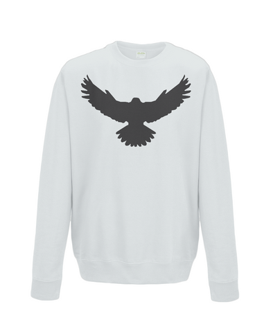 Unisex Falcon Sweatshirt Printed Black