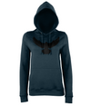 Ladies Falcon Hoodie Printed Black