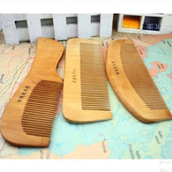 3PCS/ Natural Peach Wooden Comb Beard
