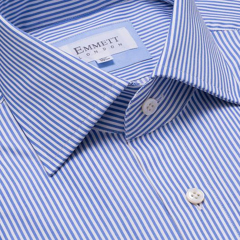 Emmett London Thin Blue Striped Shirt