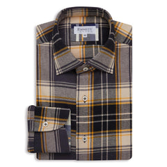 Heavy Yellow Check Brushed Shirt