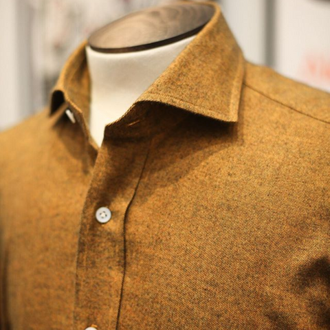 Burnt Orange Brushed Cotton Shirt