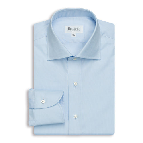 Blue Oxford Anti-Wrinkle Shirt