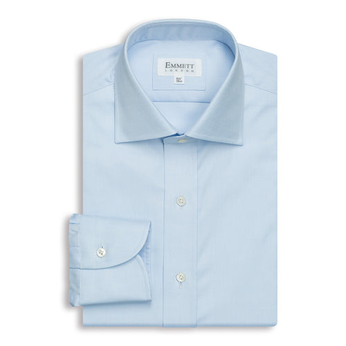 Men's Light Blue Anti-Wrinkle Twill Shirt