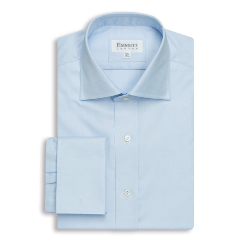 Light Blue Twill Anti-Wrinkle Shirt