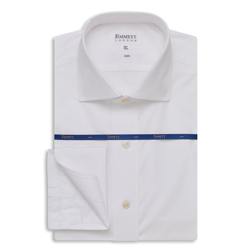 Super 140s Fine White Poplin Shirt