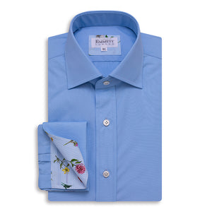 120s Light Blue Men's Shirt - Emmett London - Jermyn Street & Kings Road Shirtmakers
