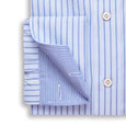 Elegant Man's Blue Striped Oxford Shirt - Emmett London - Jermyn Street & Kings Road Shirtmakers