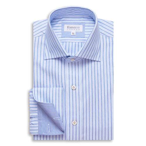 Blue On Blue Striped Oxford Shirt