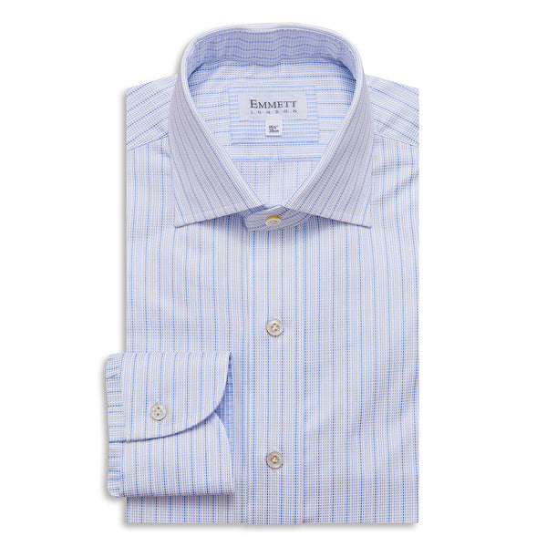 Detailed Striped Shirt - Emmett London - Jermyn Street & Kings Road Shirtmakers