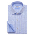 Window Pane Blue Check Shirt - Emmett London - Jermyn Street & Kings Road Shirtmakers
