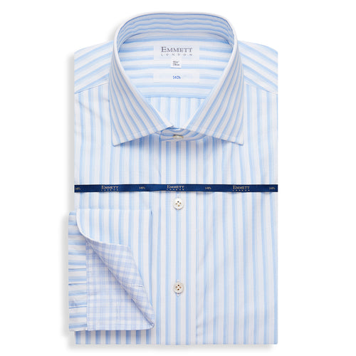 140s Blue Stripe Shirt