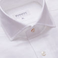 Tone On Tone White Stripe Cotton Linen Shirt - Emmett London - Jermyn Street & Kings Road Shirtmakers