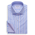 Blue And Pink Stripe Poplin Shirt - Emmett London - Jermyn Street & Kings Road Shirtmakers