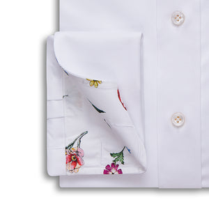 White Royal Twill Shirt - Emmett London - Jermyn Street & Kings Road Shirtmakers