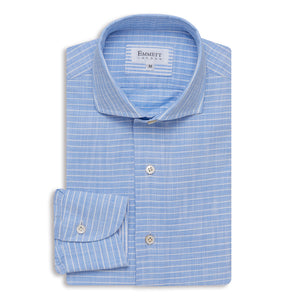 White Horizontal Stripe Shirt - Emmett London - Jermyn Street & Kings Road Shirtmakers