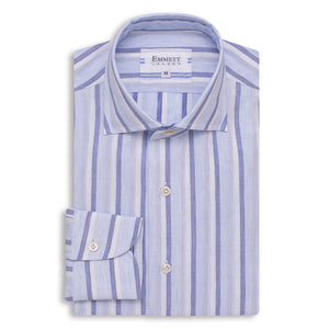 Sky Blue Stripe Casual Shirt - Emmett London - Jermyn Street & Kings Road Shirtmakers