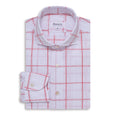 Red Check Textured Shirt - Emmett London - Jermyn Street & Kings Road Shirtmakers