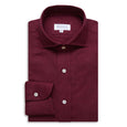 Burgundy Brushed Cotton Shirt - Emmett London - Jermyn Street & Kings Road Shirtmakers