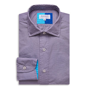 Grey Poplin Shirt - Emmett London - Jermyn Street & Kings Road Shirtmakers