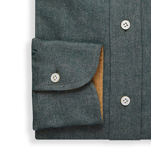 Forest Green Brushed Cotton Cashmere Shirt