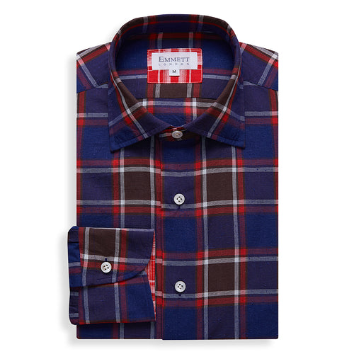 Dark Blue Country Check Shirt