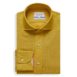 Yellow Linen Shirt - Emmett London - Jermyn Street & Kings Road Shirtmakers
