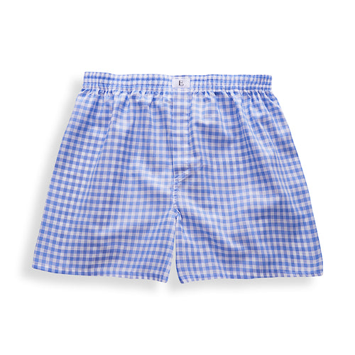Light Blue Checked Boxer Shorts