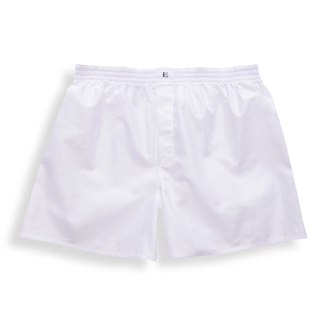 White Airtex Boxer Shorts - Emmett London - Jermyn Street & Kings Road Shirtmakers