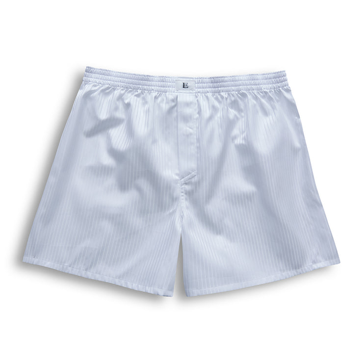 White Stripe Boxer Shorts