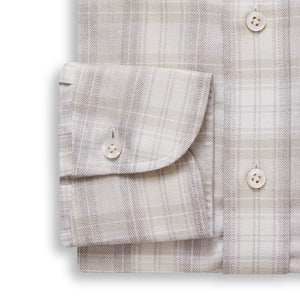 Brushed Cashmere and Cotton Check Shirt