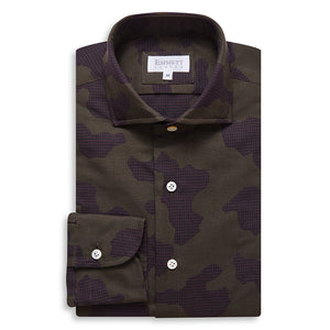 Brown Camouflage Check Shirt
