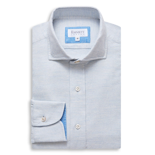 Light Blue Brushed Cotton Shirt
