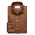 Dark Orange Brushed Cotton Shirt
