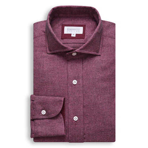Dark Purple Brushed Cotton Shirt