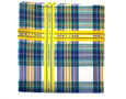 Green Madras Check Pocket Square - Emmett London - Jermyn Street & Kings Road Shirtmakers