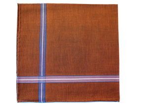 Dark Brown Satin Pocket Square - Emmett London - Jermyn Street & Kings Road Shirtmakers