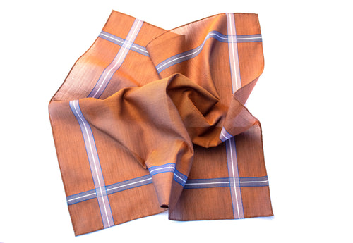 Dark Brown Satin Pocket Square