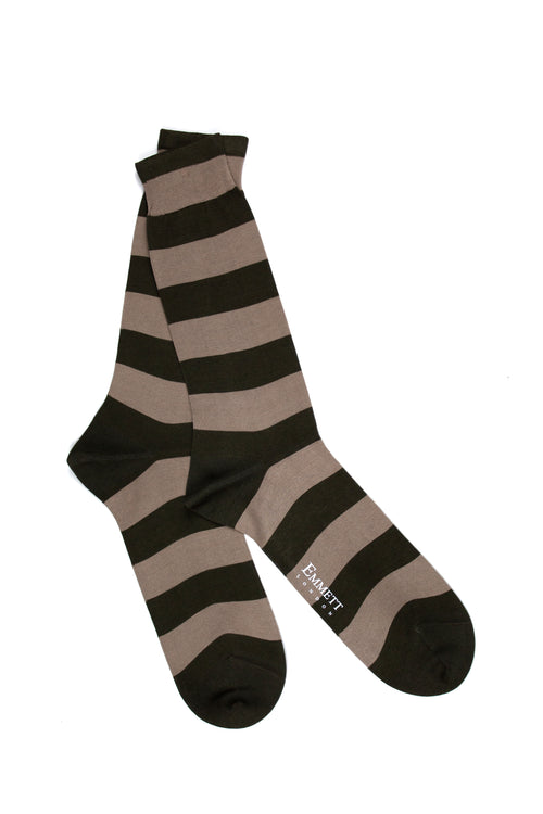 Khaki & Beige Srtiped Socks