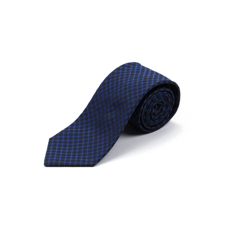 Navy Dot Tie - Emmett London - Jermyn Street & Kings Road Shirtmakers