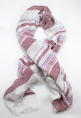 Red & White Stripe Linen Scarf - Emmett London - Jermyn Street & Kings Road Shirtmakers