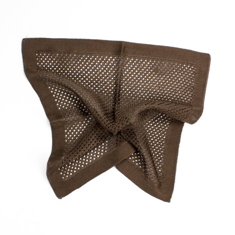 Dark Brown Knitted Silk Pocket Square