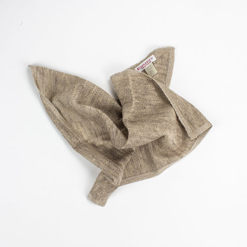 Beige Linen and Silk Pocket Square